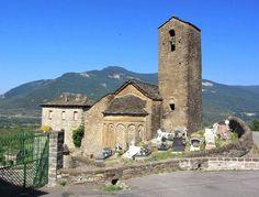 Oliván, provincia de Huesca - Iglesia románico mozárabe de San Martín, El Serrablo