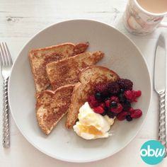 Slimming World breakfast: French toast - One Busy WAHM Best Breakfast Recipes, Diet Breakfast, Breakfast Dishes, Diet Soup Recipes, Cooking Recipes, Slimming World Breakfast, Healthy Work Snacks, Slimming World Recipes, Food Videos