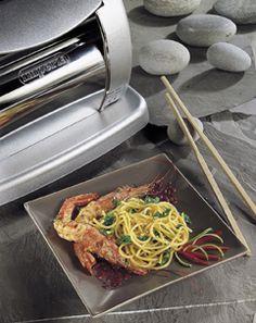 Spaghetti con gamberoni al lime