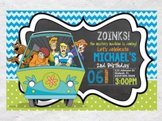 Hey, I found this really awesome Etsy listing at https://www.etsy.com/listing/219195381/scooby-doo-birthday-invitation