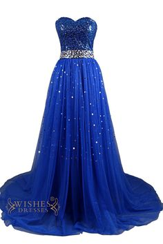 Dresstells Sweetheart Tulle Prom Dress Homecoming Dress with Sequins Champagne Size 2 Homecoming Dresses Long, Strapless Prom Dresses, Prom Dresses 2015, Tulle Prom Dress, Prom Dresses Blue, Pretty Dresses, Beautiful Dresses, Formal Dresses, Long Dresses
