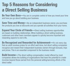 Direct Ing Business Model S Recruiting Ideas Be Your Own Boss