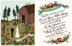 This invite is amazing, and I love the colors and the art. I am not certain if we are going to go a more folk art route or a more rustic route for the theme though.