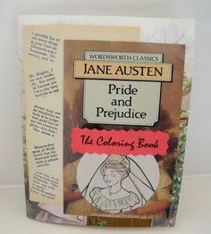 Pride and Prejudice coloring book