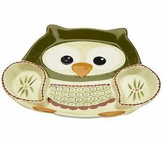 "Temp-tations Old World Owl Chip and Dip Set~ This is on my ""maybe"" list.  It's on clearance.... So maybe? #QVC #Temptations"