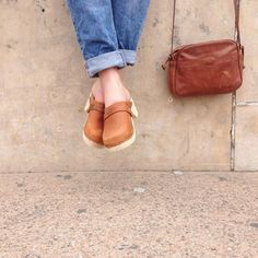 low wood brown oiled nubuck clogs