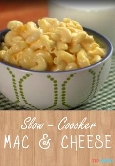 Slow Cooker Mac & Cheese Recipe | Nothing beats a home cooked bowl of macaroni and cheese. And the beauty of this recipe is that you can make it in your crockpot so you get that same cheesy goodness with a few less steps involved. Click for the recipe and video! #dinnertime #comfortfood #familydinner #homecooking #cheese #yum #easyrecipes