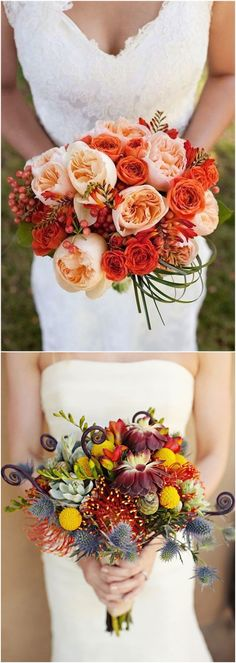 fall bridesmaid bouquet #weddings #flowers #weddingflowers #weddingbouquets #weddingideas