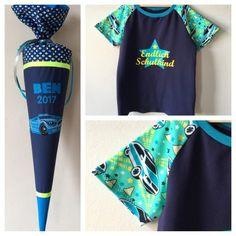 Shirt passend zur Schultüte, Schulshirt, Schulkind Aufdruck, Sterne, Polizei