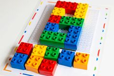 Free printable Number Mats for Duplo blocks. Count numbers with these DUPLO Number Mats for preschool and kindergarten. Lego Duplo Town, Lego Lego, Lego Batman, Free Printable Numbers, Free Printables, Counting Activities, Toddler Activities, Creative Box