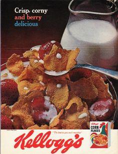 "1965 Kellogg's Ad ""Crisp, corny"""