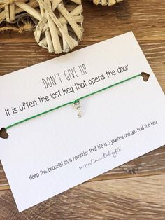 The Last Key Quote Gifts – The Last Key Opens The Door This has been on a while, just updated the look and fonts. The Last Key Quote Gifts – The Last Key Opens The Door Key Quotes, Gift Quotes, Cheer Up Gifts, Gifts For Friends, Cheer Someone Up, Bracelet Quotes, Motivational Gifts, Quirky Gifts, Key To My Heart