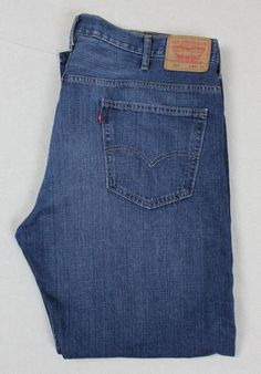 Levi's mens jeans 569 loose straight 40x32 big and tall #Levis #loosestraight