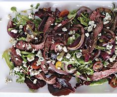 Steak Salad with Grilled Red Onions