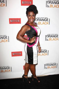 Uzo Aduba (Crazy Eyes) at the Netflix Presents 'Orange is the New Black' premiere in NYC. #OITNB
