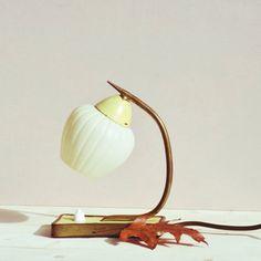 Vintage Nachttischlampe Midcentury Zwiebellampe von LeFlair auf Etsy