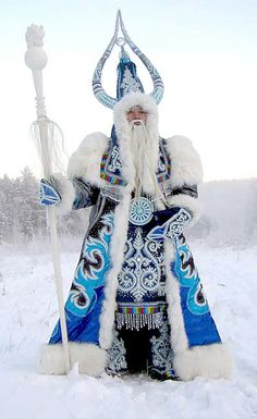 Ceremonial garb in Siberia. Absolutely inspiring! ---this looks like something out of world of warcraft!