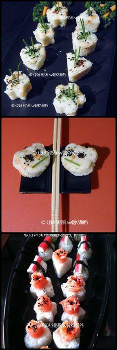 Sushi made during our kids-sushiworkshop. https://www.facebook.com/crea.sushiworkshops?ref=hl