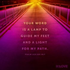 Do you ever think about your headlights when driving at night? Without them, it would be impossible to drive after dark. God's Word is similar in that, when our direction in life isn't clear, He shines His bright light on the path. Verses About Love, Quotes About God, Bible Quotes, Bible Verses, Godly Quotes, Scriptures, Psalm 119 105, Christian Motivation, Christian Quotes