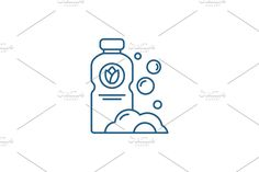 Vector Website, Container Design, Line Icon, Illustration, Bubbles, Concept, Math, Math Resources, Illustrations