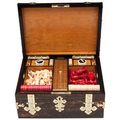 Antique Games Box by Leuchars, circa 1870 | From a unique collection of antique and modern games at https://www.1stdibs.com/furniture/more-furniture-collectibles/games/
