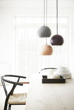 Ball pendants. Design Benny Frandsen