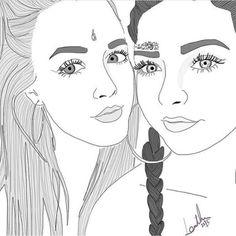:;:;: brxkenscenes :;:;: Tumblr Sketches, Tumblr Drawings, Tumblr Art, Doodle Drawings, Tumblr Outline, Best Friend Drawings, Illustration Sketches, Make Art, Drawing Tips