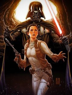 Star Wars #13 - Princess Leia and Darth Vader by Mark Brooks * // *REFERENCE: Marvel SW comic #48 > http://starwars.wikia.com/wiki/Star_Wars_48:_The_Third_Law