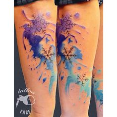 It could be a watercolor Frozen tattoo! By Hamitattoo.