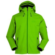 Mens 3L Fleece Backed Jacket (Neon Green)