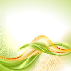 Abstract wavy green eco style background vector 21
