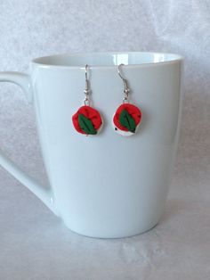 Just for the appetizers, or for da WHOLLLE DAY! Tomato Basil and Mozzarella  Earrings by EmilyTomasik on Etsy