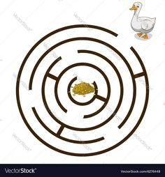 Game labyrinth find a way goose vector image on VectorStock Hl Martin, Labyrinth Game, Martini, Adobe Illustrator, Vector Free, Crafts For Kids, Symbols, Illustration, Peda