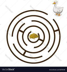 Game labyrinth find a way goose vector image on VectorStock Hl Martin, Labyrinth Game, Adobe Illustrator, Vector Free, Crafts For Kids, Symbols, Illustration, Peda, Spring