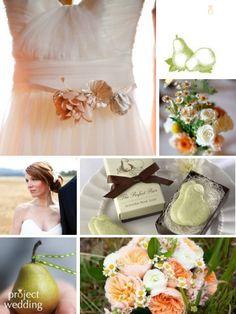PEACH & GREEN THEMED WEDDING