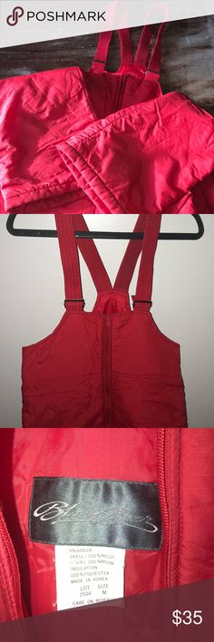 Black Bear Red Ski Snowboard Bibs Size M EUC These medium sized ski bibs are in Excellent used condition. Featuring a convenient breast pocket and adjustable straps. The red is very vibrant. Black Bear Other