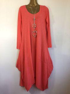LAGENLOOK-LAYERING-JERSEY-DRAPE-DRESS-OSFA-UK-8-16-c81 £19.99