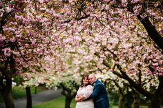 Floral Hall Wedding - Staffordshire WEdding Photography - Gemma & Dan-692 Bride & Groom - Blossom Trees