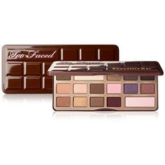 Too Faced Chocolate Bar Eye Shadow Palette (68 AUD) ❤ liked on Polyvore featuring beauty products, makeup, eye makeup, eyeshadow, no color, shimmer eyeshadow, eye shimmer makeup, matte palette eyeshadow, too faced cosmetics and shimmer eye shadow