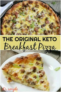 Keto Breakfast Pizza - Meat Lover's Style! Only 1.7 NET CARB Per Slice