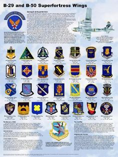Strategic Air Command Wing Poster B-29 / B-50 Superfortress Wings Poster 18 X 24 We are proud to present this poster honoring the men and units that won the cold war. Each poster commemorates the bomb