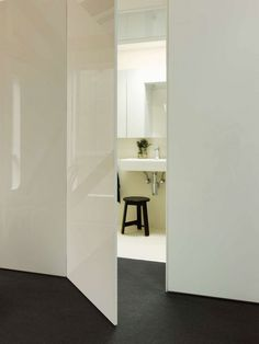 The door to the toilet and bathroom characteristics of the installation design and materials selection photo 09