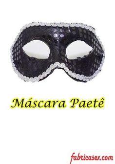 Máscara Paetê Preta