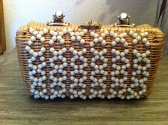 Spring fashion trends say wicker, neutral accessories and box purses are in - get all three in this one purse! Fabulous Vintage Wicker Purse from the 60s by VintageBaublesnBits, $30.00