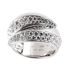 Cartier Panthere Diamond White Gold Ring  | 1stdibs.com