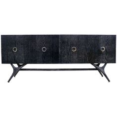 Finn Leg Silver Cerused Credenza | From a unique collection of antique and modern credenzas at http://www.1stdibs.com/furniture/storage-case-pieces/credenzas/