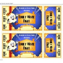 Movie Tickets-movie night ideas