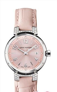 ✯ Louis Vuitton blush pink watch