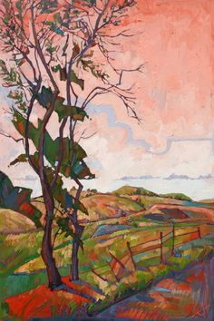 """Colors of Paso"" - Original oil painting by California artist Erin Hanson"