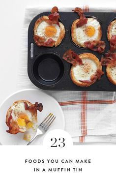 23 Foods You Can Make in a Muffin Tin. What a versatile kitchen tool. Use your muffin tin to make breakfast, lunch or desserts. Our list includes recipes like peanut butter brownies, mini lasagna and poached eggs.